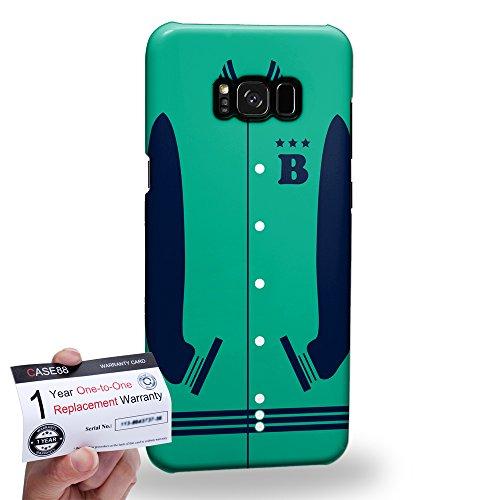 (Case88 [Samsung Galaxy S8 Plus / S8+] 3D Hülle / Schutzhülle & Garantiekarte - Art Sports Mint Baseball Jersey 1987)