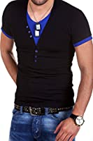 MT Styles BS-501 - T-Shirt 2 in 1 con scollo a V