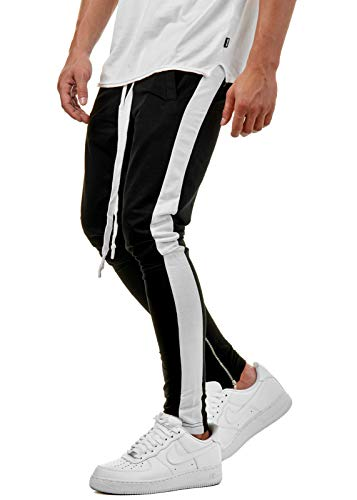 Zum Shop · EightyFive Herren Track Pants Jogging Sweatpants Streifen Zipper  Slim EFJ5050 531df43675