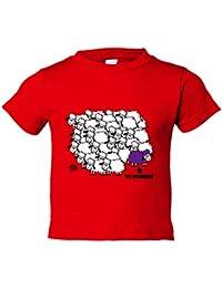 Camiseta niño Barcelona fútbol la borregada personalizable ...