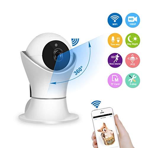 CCSXT Drahtlose Kamera, 1080P WiFi IP mit Nachtsicht-Bewegungserkennung Zwei-Wege-Audio Home Security Überwachung Zoom Monitor, für Baby/Haustier/ältere Menschen,1080P+2MP (Wlan-überwachungskameras Im Freien)