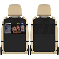MoKo Car Kick Mat Backseat Protector, 2 Pack Universal Car Anti-Kick Mat Cover
