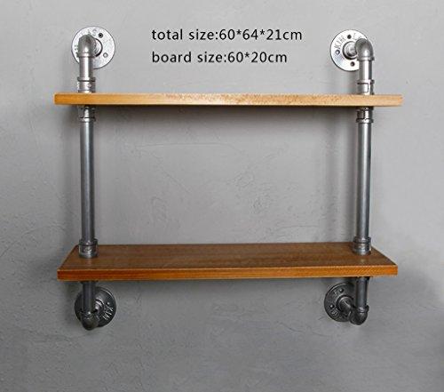 C-Bin1 Kreative Racks, Retro Style LOFT Wand-Wasserrohr Element Wanddekoration Bücherregal Schlafzimmer Cafe Bar Wohnzimmer Kommerziellen Shop Multifunktions-Rack Mehr Dekoration ( größe : 60*64cm )