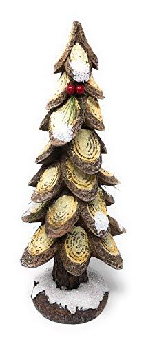 Hanna's Handiworks Weihnachtsbaum mit Beeren aus Kunstharz, 12 Stück Brown Wood W/Red Berries Brown Berry