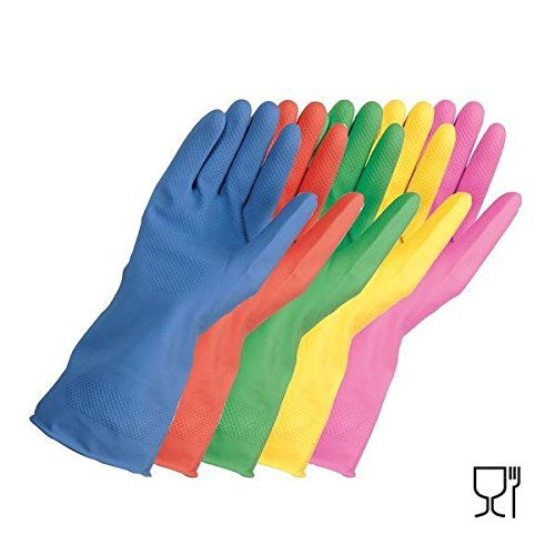 Haushalts-Gummihandschuhe, 10Paar, rose, m (Heavy-duty-haushalts-handschuhe)