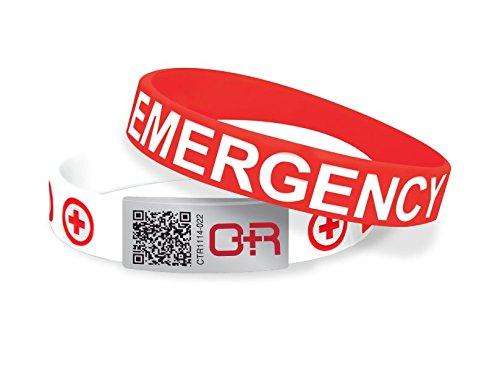 Medical Geschichte Identifikation, Band–Schnelle Zugang zu essentiellen medizinischen Informationen–Rot/Weiß–aeb072 (Akita-band)