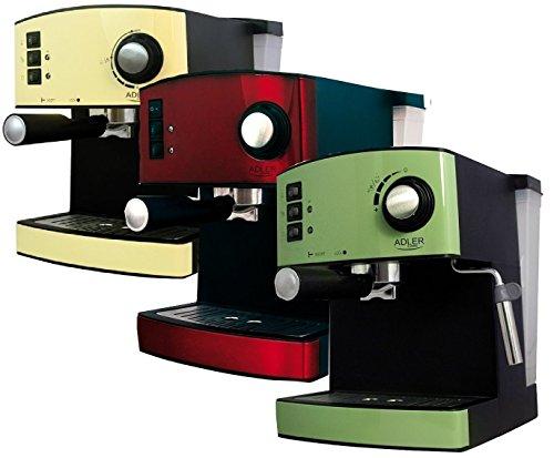 Espressomaschine Cappuccino Espresso Automat Maschine Edelstahl 15bar mit Milchaufschümer (Grün)