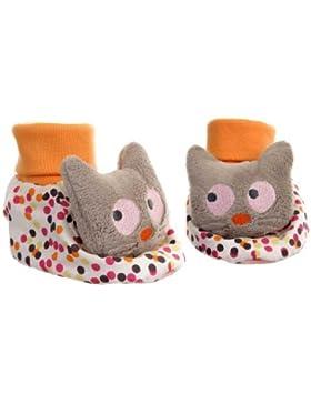 Egmont Toys Slippers, Babyhausschuhe, Baby-Stoffschuhe, Motiv: Katze, Größe: 3-9 Monaten