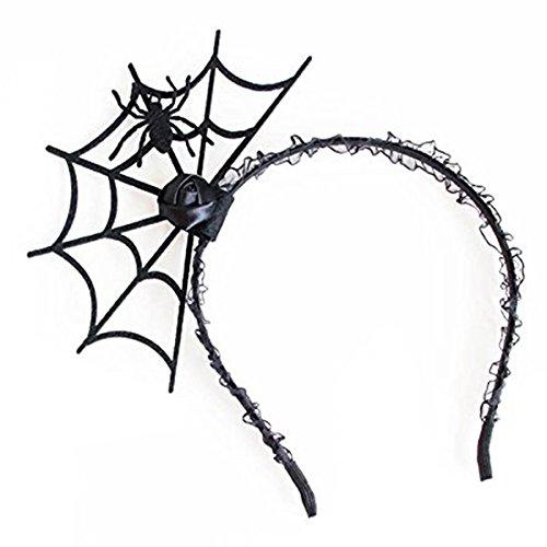 TOOGOO(R) Halloween Cosplay Spinne Haarreif-Neue Modisch Spinnennetz Stirnband Kopfschmuck Hallowmas Partei Geschenk Schwarz # 1