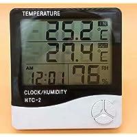 HANBIN Termómetro LCD digital Monitor de temperatura e higrómetro HTC-2