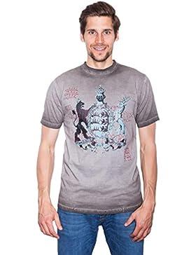 Krüger - Herren Trachten T-Shirt in Braun, Furchtlos und Treu (92209-7)
