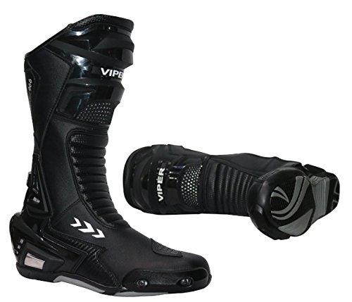 Viper 966S CE Sports Racing Boots Motocross Enduro MX Off Road Abenteuer Dreckige Fahrrad Quad BMX ATV Motorrad Mountainbike Stiefel (39/5 - 47/13, Schwarz) - Schwarz - 46/12