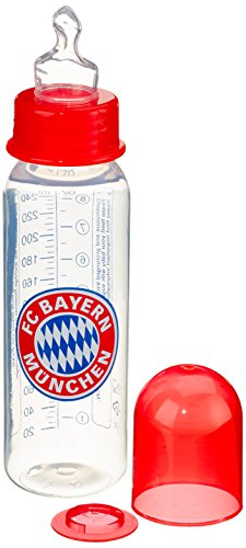 "primamma 44573000 - Babyflasche \""FC Bayern München\"" 250ml Silikon Gr. 1"