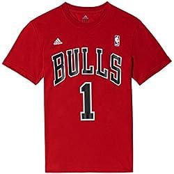 adidas Gametime Tee - Camiseta para hombre, color rojo / negro / blanco, talla XL