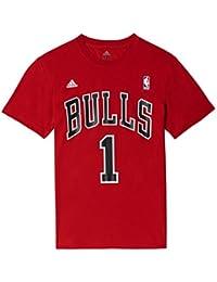 adidas Gametime Tee - Camiseta para hombre, color rojo / negro / blanco, talla