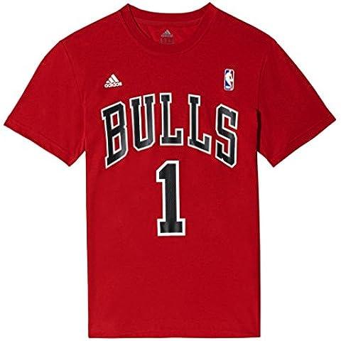 adidas Gametime Tee - Camiseta para hombre, color rojo / negro / blanco, talla M