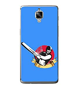 Fiobs Designer Back Case Cover for OnePlus 3 :: OnePlus Three :: One Plus 3T (Test 50 Cricket Bat Ball Sachin )