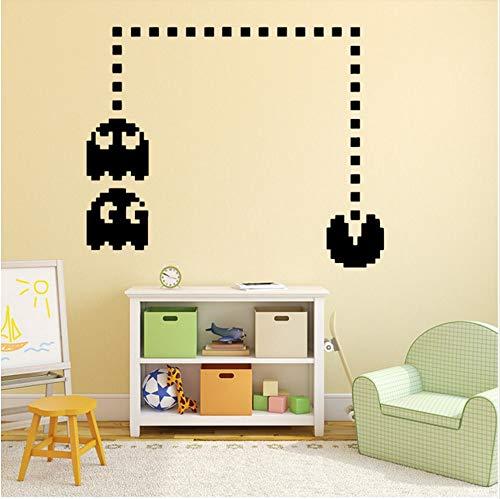 Cmhai Fai Da Te Pacman Gioco Art Sticker Adesivi Murali Impermeabili Per Camerette Per Bambini Wall Art Sticker Murals58 * 64Cm