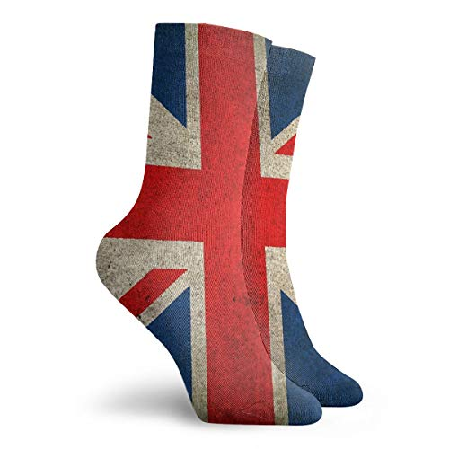 THCDTOP19 Herren Damen Kleid Socken Old And Worn Vintage Union Jack Flagge Tube Knie Langschlauch für Sport