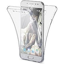 Samsung Galaxy J5 2017 EU Model Funda Carcasa Protectora 360 Grados de NICA, Movil Silicona Ultra-Fina Transparente, Doble Delantera torno protección, Cubierta Bumper Cover Case, Color:Transparente