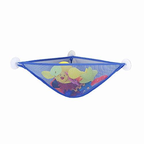 uyhghjhb Aufbewahrungstasche für Badezimmer, Kinder-Badespielzeug, multifunktional, dreieckig saphirblau