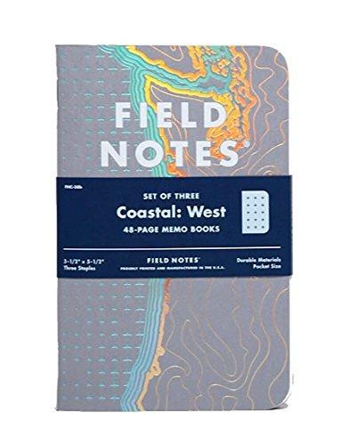 Küsten Notizbücher von Field Notes: Westküste Sonderedition mit Fadenkreuz-Raster, 8,9 x 14 cm, Frühjahr 2018