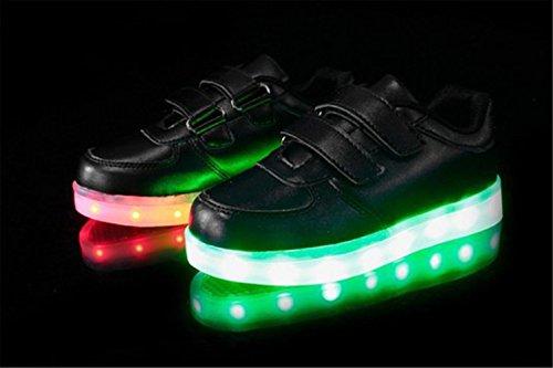 Für Glow Lackleder top 7 Turnschuhe Schuhe Leuchtend Sneakers present Unisex Herren Dam Sport Led Handtuch Farbe High Aufladen C7 kleines Usb junglest® tq7wST