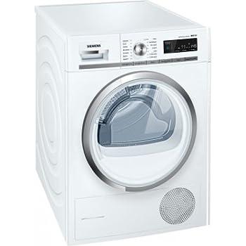 Siemens WT47W590FF Autonome Charge avant 9kg A++ Blanc - sèche-linge (Autonome, Charge avant, Pompe à chaleur, Blanc, boutons, Rotatif, Droite)