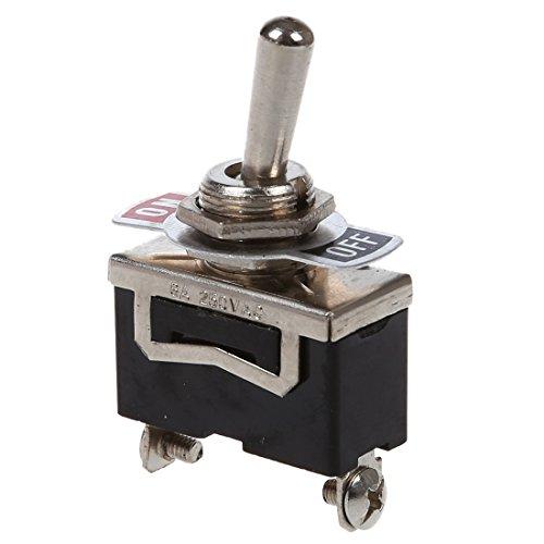 WOVELOT 5 Stueck Fledermaus Schraubklemmen ON/Off Schalter SPST Taster Switch ?11,6mm