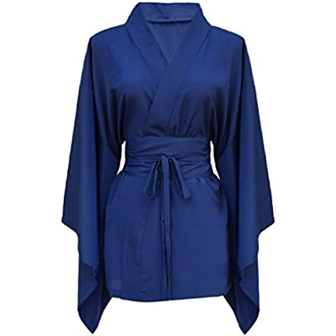 kimono giapponese camicia donna di seta naturale al 100%