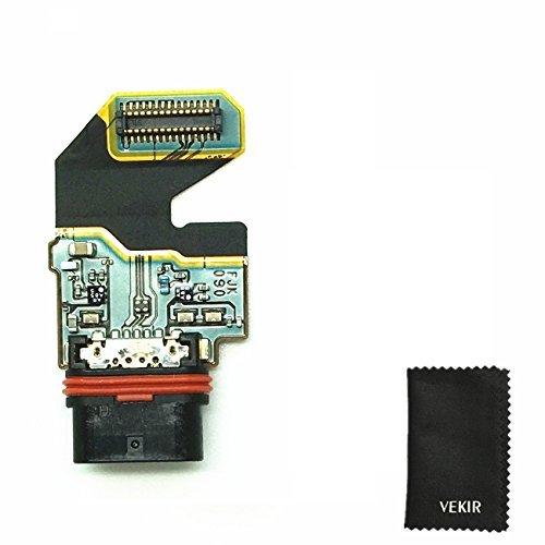 USB Ladegerät Port Flex Cable Replacement kompatibel mit Sony Xperia Z5 Premium Z5P Z5 Plus E6833 E6883 E6853 VEKIR Retail Verpackung