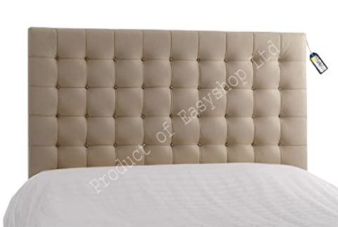 Top Quality 5FT kingsize Tufted Crystal Diamante FLORIDA Bed Faux Leather Headboards For Single Double Kingsize & Queen Bedding Best on AMAZON (Length:5FT, Height:26