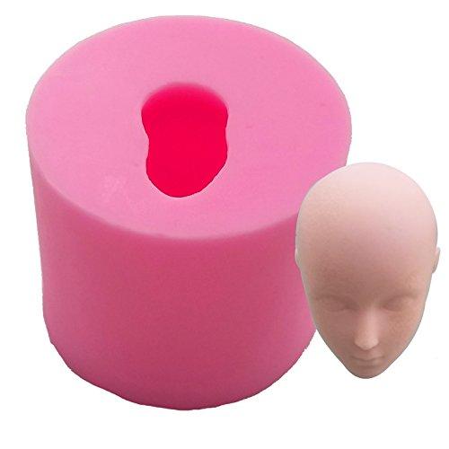 Beauty 's Castle DIY 3D Puppe Face handgefertigte Seife Form, Silikon Form für Fondant, Schokolade Kuchen Form Dekorieren, Fondant Backen - Halloween-fondant-formen