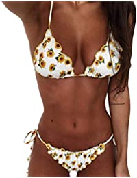 CheChury Traje de Baño Bikini Mujer 2020 Bohemio Push Up con Relleno Tirantes Ajustables Dos Piezas Tops de Bikini Estampado Acolchado Baño Ropa de Playa