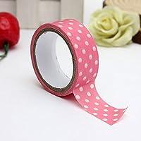 Bluelover 3m punto giapponese stampa adesivo decorativo DIY Washi-Pink Ribbon