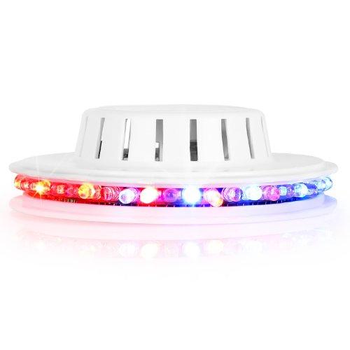 Ibiza UFO LEED-Lichteffekt (RGB-Farbspektrum, für Wand und Decke) weiß