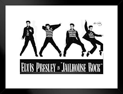 Pyramid America Elvis Jailhouse Rock mattierte gerahmtes Poster Poster 50,8x 66cm - Jailhouse Rock Poster