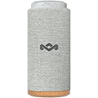 House of Marley No Bounds Sport Waterproof Bluetooth Speaker, 12 Hour Battery, Dust Proof IP67, Carabiner Clip, Quick Charge, 360 Degree Sound, Wireless Dual Pairing, Speakerphone - Grey preiswert