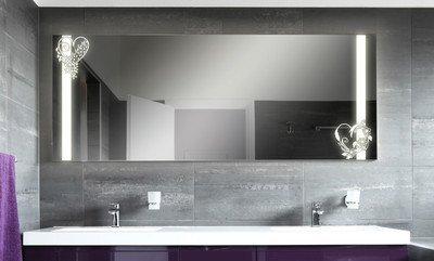 Badspiegel mit Beleuchtung Love F133N2V: Design Spiegel für ...
