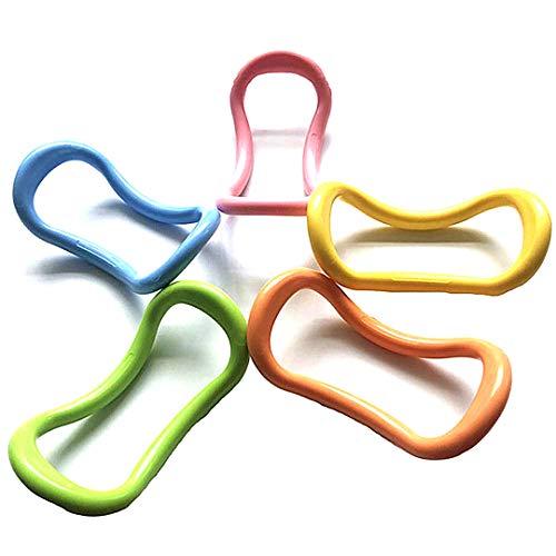 Beito 1pc Frauen Sport Yoga Ring Pilates Eignung-Kreis-Trainings-Widerstand-Support Tool (Farbe Random)