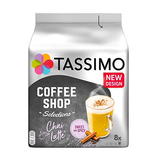 Tassimo Kapseln Coffee Shop Selections Chai Latte, 40 Kaffeekapseln, 5er Pack, 5 x 8 Getränke