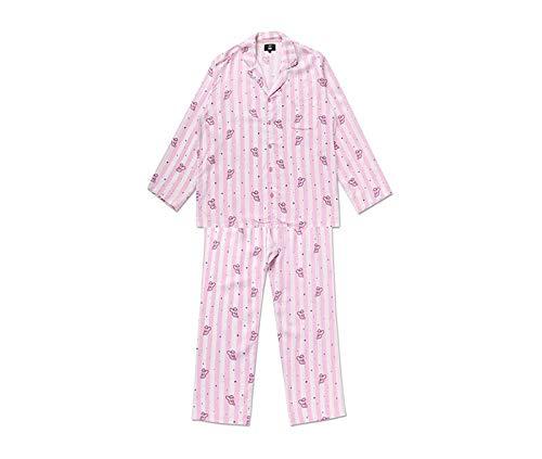 Bostar KPOP BTS Bangtan Boys BT21 Versión de Dibujos Animados Jung JOOK Jimin V Same Pijama de Harajuku Camisa de Manga Larga Nighty Hombre Mujer Bedgown (Cooky, L)