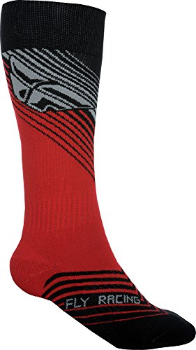 Fly Racing Motocross & Mountainbike Socken dünn MX rot-schwarz MX & MTB Socks L/XL