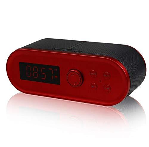 Altavoz Bluetooth Alarma de Reloj Sonido Subwoofer Exterior Personalidad inalámbrica Único Entretenimiento...