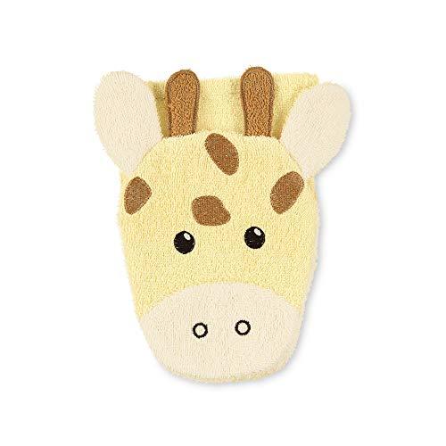 Sterntaler Spiel-Waschhandschuh Kuschelzoo, Giraffe Greta, Größe: 21 x 18 cm, Gelb