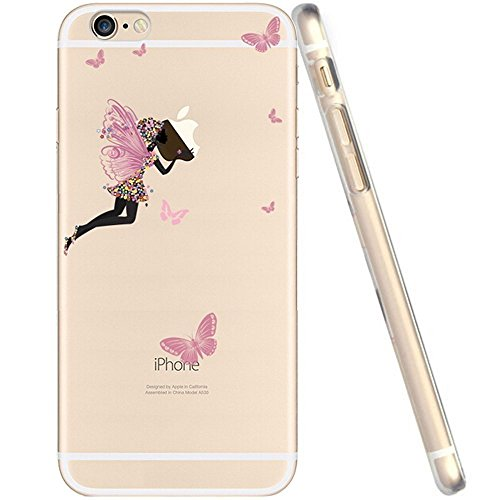 "licaso® iPhone TPU Hülle Disney Case Tinkerbell Butterfly Elfe Märchen transparent klare Schutzhülle Disney Hülle iphone6 Tasche Case (iPhone 6 6S 4.7"", Tinkerbell Butterfly) Tinkerbell Butterfly"