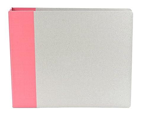 American Crafts D-Ring Modern Black Scrapbook Album - 12x 12