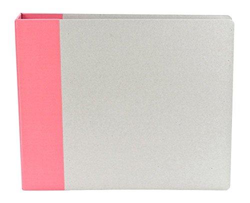 American Crafts D-Ring Modern Black Scrapbook Album - 12x 12 - Set of 2 - 2-Pack