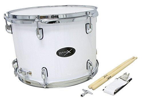 Gewa Basix Marching Tenor Drum, Snare weiß, (14 Zoll) x (10 Zoll)