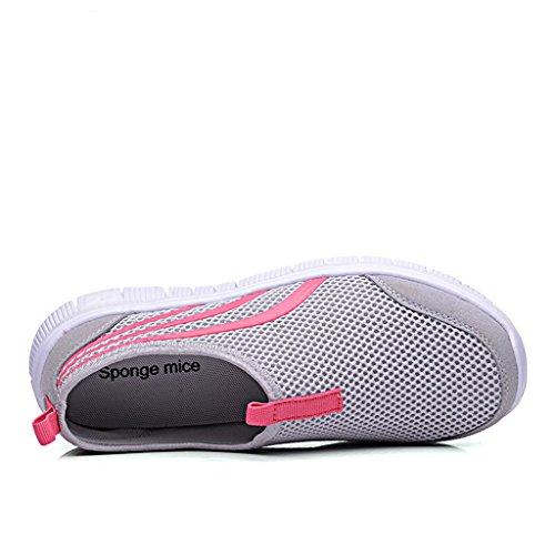 Eagsouni® Unisex-Erwachsene Sommer Breathable Mesh Schuhe Laufschuhe Strandschuhe athletische Turnschuh #2Grau